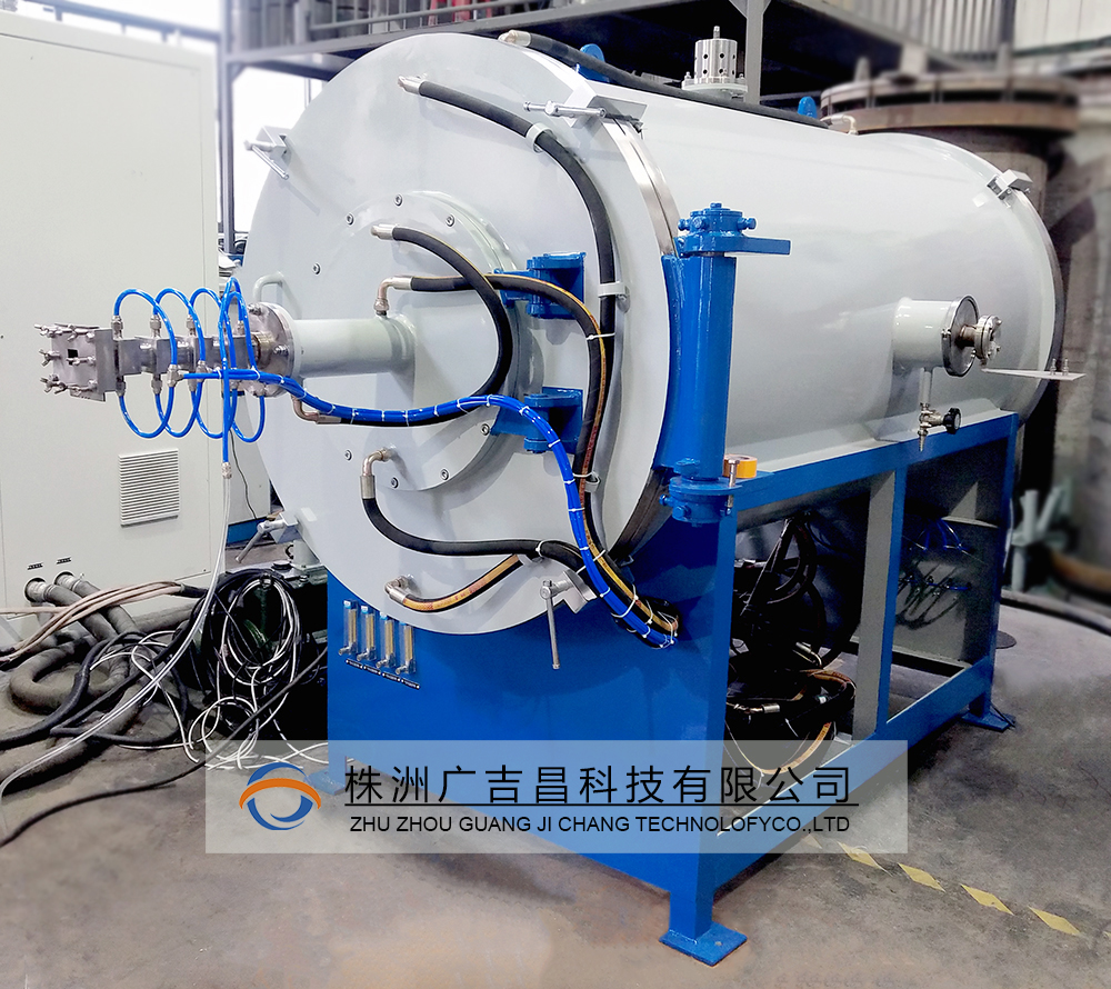 碳纤维连续石墨化炉设备完成工作